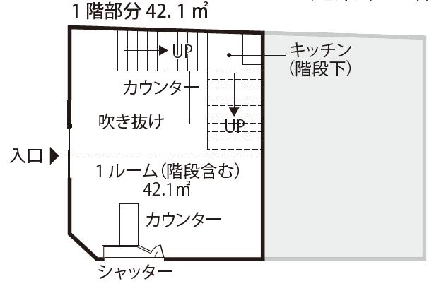 空き店舗⑤上富田C-①-1F